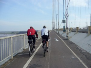 Crossing the Severn bridge.