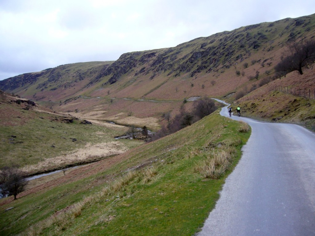 Gentle climb along a drover's road leading up to the Devil's Staircase.