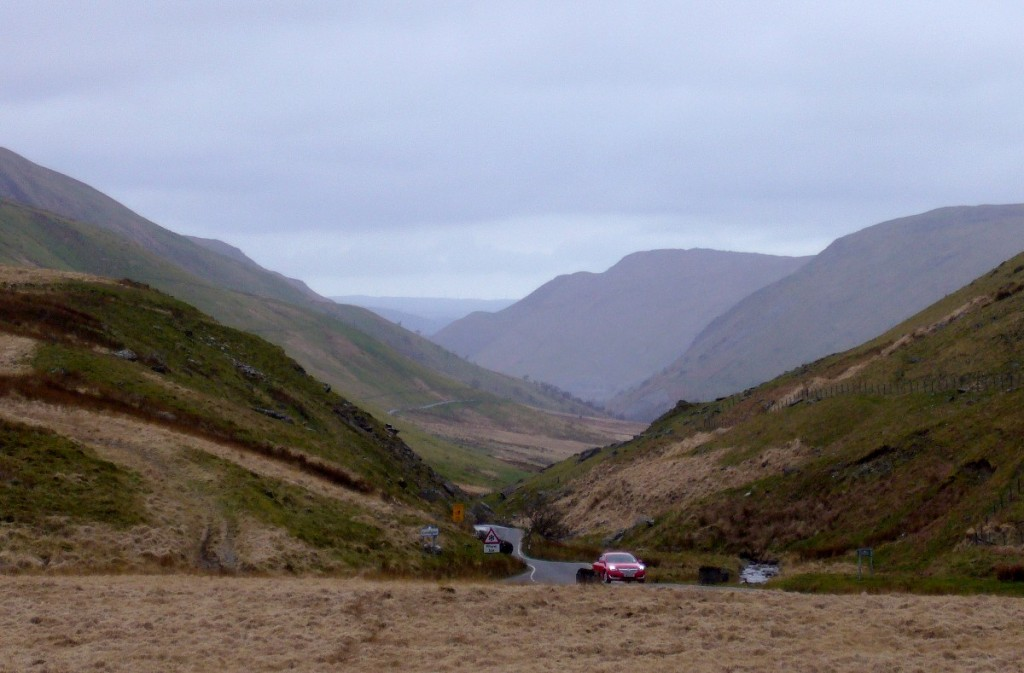 The remote Elan Valley, with a lovely tailwind.