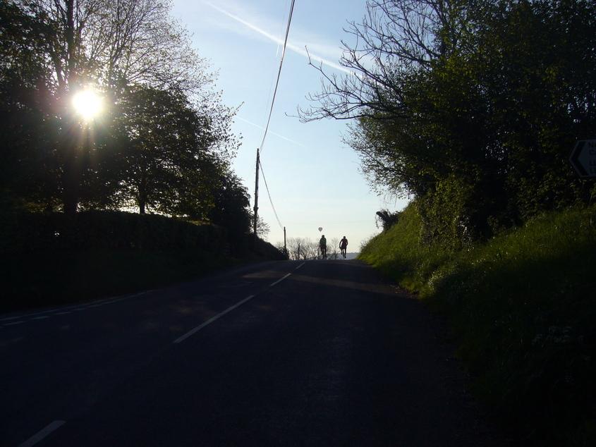 Looking back towards Rockfield.
