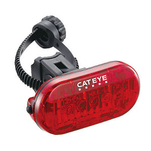 Lozenze-shaped read plastic rear light with 5 LEDs