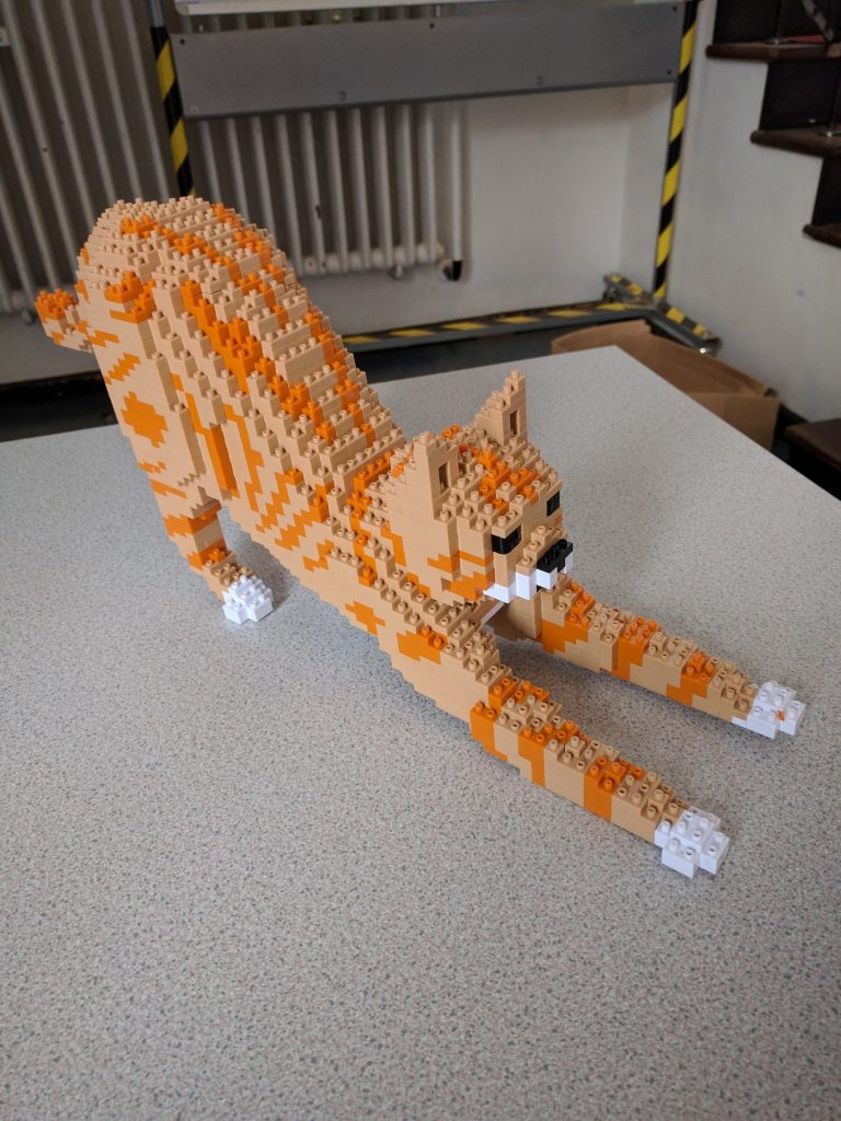 Lego ginger cat